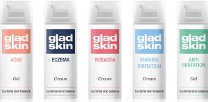 GLADSKIN -nieuw flesjes naast elkaar